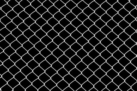iron fence: Chainlink fence Stock Photo