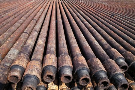 Drill pipe of  oil drilling platforms Stock Photo - 5791822