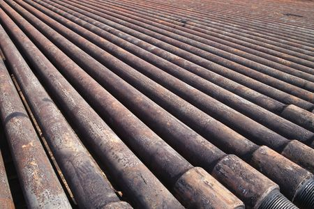 metal pipe: Drill pipe of  oil drilling platforms