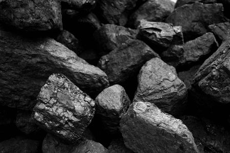 Close up of fossil  coal