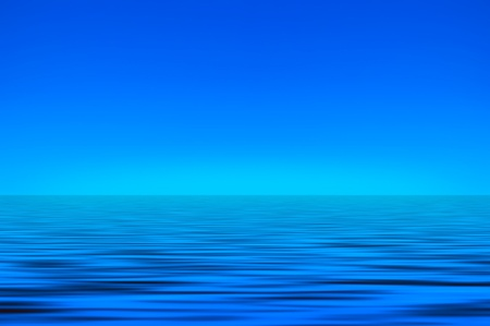Sky and sea background Stock Photo