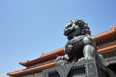 Bronze Lion in Forbidden City, Beijing, China
