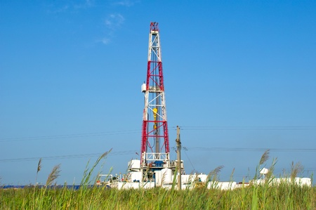 A land drilling rig. photo