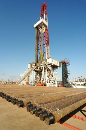 A land drilling rig. Stock Photo