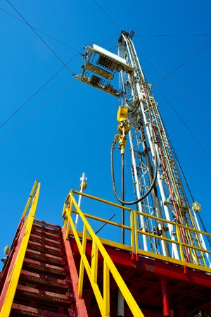 drilling rig: Land drilling rig.