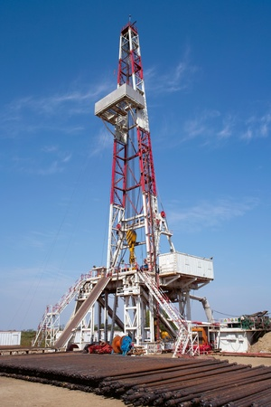 Drilling rig and pipes
