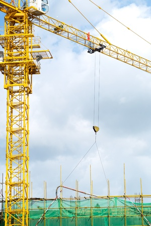 High rise construction site Stock Photo - 10777349