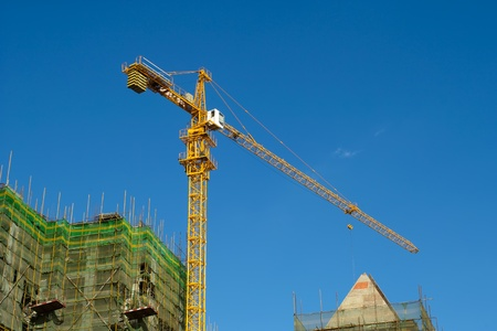 High rise construction site Stock Photo - 10922293