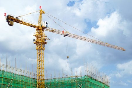 High rise construction site Stock Photo - 10922303