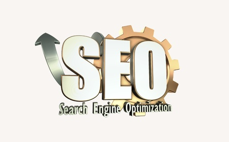 3D illustration of search engine optimization illustration
