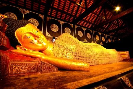 lie buddha in chainmai Thailand