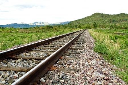 long railway Standard-Bild
