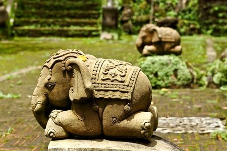 chiangmai: statue of little elephant wat Palad chiangmai Thailand