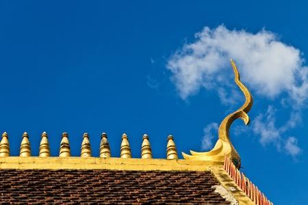 chaingmai: golden naga chaingmai Thailand Stock Photo