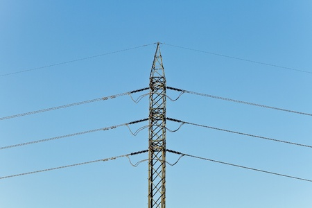 electricity post with bluesky photo