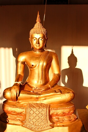golden buddha in chaingmai thailand photo
