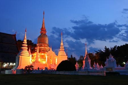 chaingmai: golden pagoda chaingmai Thailand Stock Photo