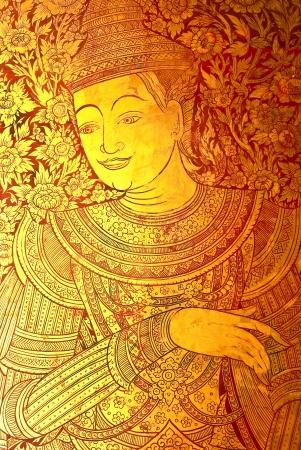 mural of wat prasingh chaingmai thailand photo