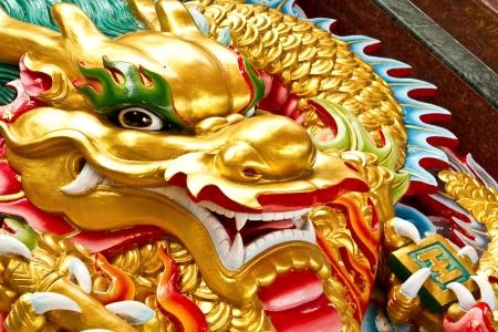 gragon gold face in Thailand photo