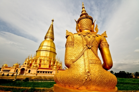 Gloden buddha Lamphun Thailand Stock Photo - 14928516