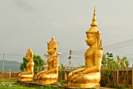 Gloden buddha Lamphun Thailand Stock Photo - 14928509