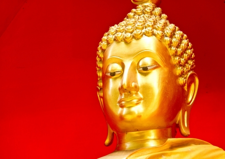 Gloden buddha chaingmai Thailand photo