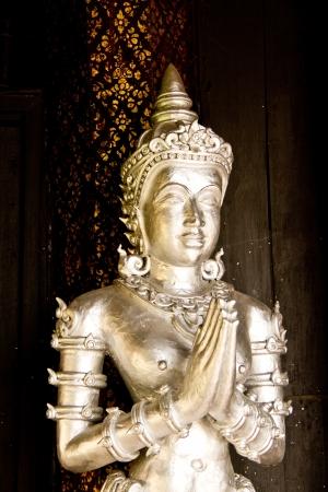 chiangmai: Angel in wat buppharam chiangmai Thailand Stock Photo