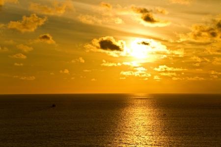 sunset at prumthep cape phuket Thailand Stock Photo
