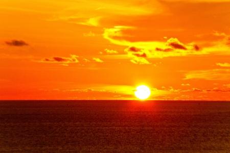 sunset at prumthep cape phuket Thailand Standard-Bild
