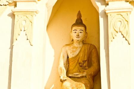 chiangmai: buddha wat jedeliam chiangmai Thailand Stock Photo