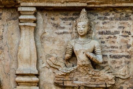 angel statue wat jedyod chiangmai Thailand