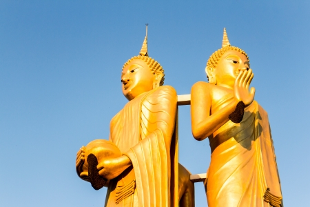 golden buddha in wat sumpanyu chiangmai Thailand photo