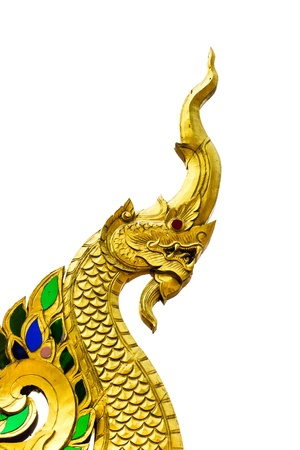 golden naga chiangmai Thailand Standard-Bild