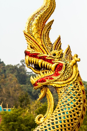 golden naga chiangmai Thailand photo
