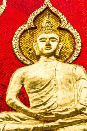 chiangmai: golden sclupture of buddha wat prabahtseeroy chiangmai Thailand