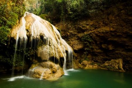 koh luang water fall lumphun Thailand Stock Photo