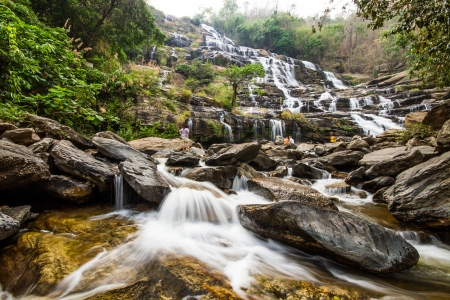 Maeya waterfall chiangmai Thailand photo