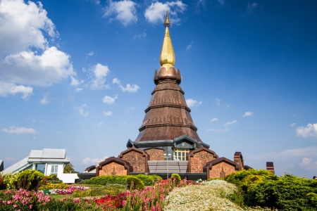 naphamethanidon pagoda chiangmai Thailand photo