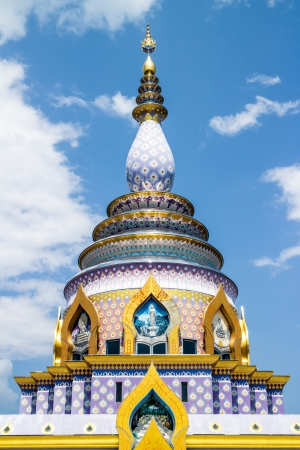 Glass pagoda wat thaton chiangmai Thailand photo