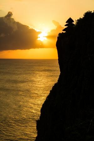 Uluwatu cliff bali indonesia photo