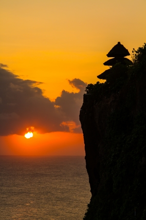 Uluwatu cliff bali indonesia photo
