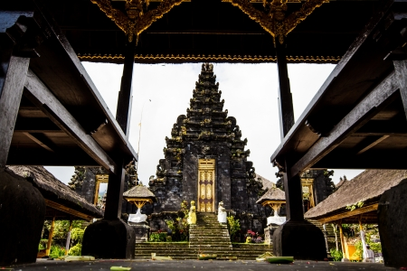 bratan: Besakih temple bali indonesia Stock Photo