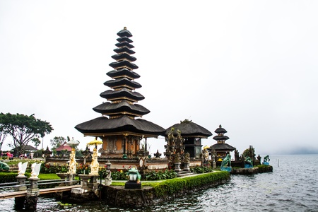 Bedugal temple bali indonesia Stock Photo