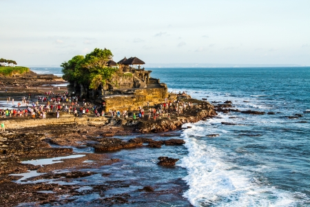 Tanahlot temple bali indonesia photo