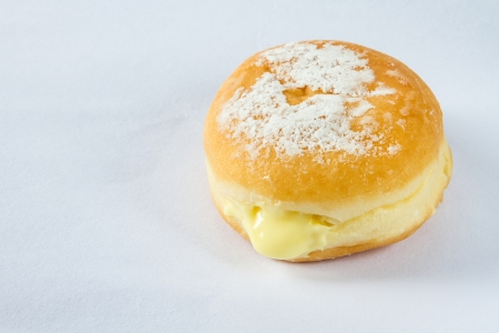 sugary: sugary donut isolated on a white