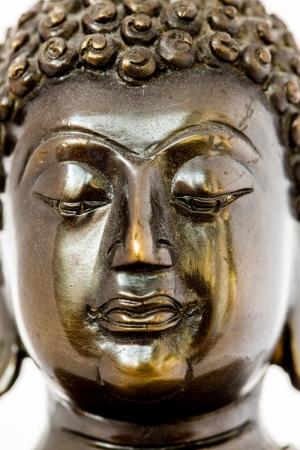 closeup buddha statue in chiagmai Thailand photo