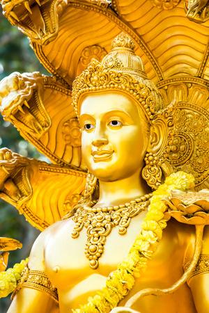 wisnu statue in huai tueng thao reservoir park, chiangmai , Thailand  photo