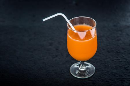 juice isolated on black background