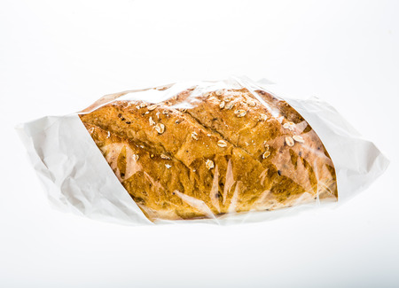goldkorn bread isolated on white background