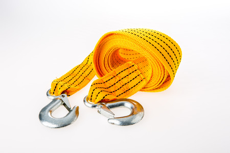 towering: towering rope on white background Stock Photo
